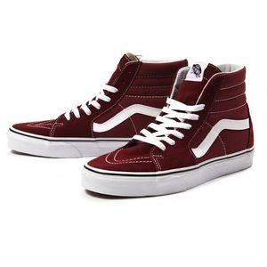 NEW Vans Madder brown/burgundy high top sneakers